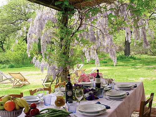 La Selva Giardino del Belvedere - Private Villa in Tuscany - Lunch al fresco